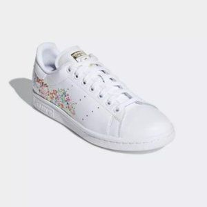 Adidas Stan Smith Originals Floral and Gold, 9